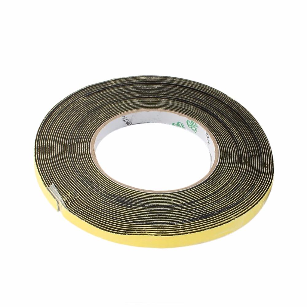 Uxcell Hot Sale 1PCS 5mm & 10mm Width 1mm Thickness Sponge Single Side Foam Tape Black, Yellow 10 M Insulation