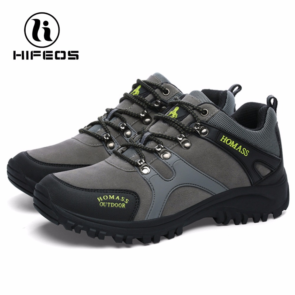 HIFEOS men tactical hiking boots climbing sneakers for waterproof breathable mountaineer camping shoes winter outdoor sport winter men s anti slip warm outdoor high top hiking sports boots fur shoes men army wearable climbing sneakers shoes camping