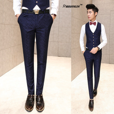Formelle Hosen für Männer Hochzeit Prom Mens Dress Pants Slim Fit - Herrenbekleidung - Foto 3