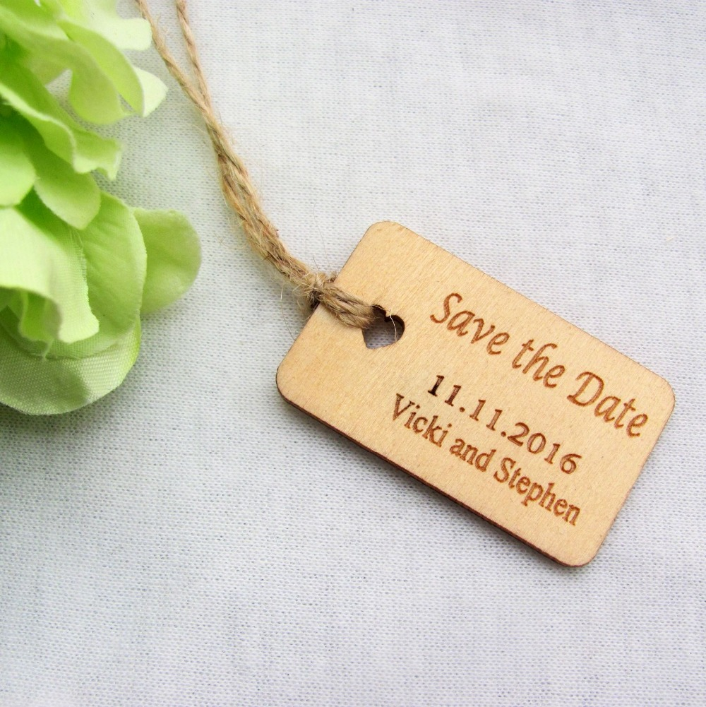 Wedding Favor Tags Rustic : The Date