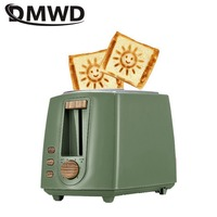 DWMD Stainless steel Electric Toaster Household Automatic Bread Baking Maker Breakfast Machine Toast Sandwich Grill Oven 2 Slice