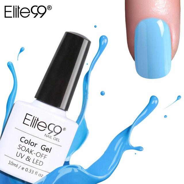 Elite99 Schöne Blau Farben Nagel Gel Polnisch LED UV Gel Lack Lak Lange Anhaltende 10 ml Gel Lack Gelpolish Nagel kunst