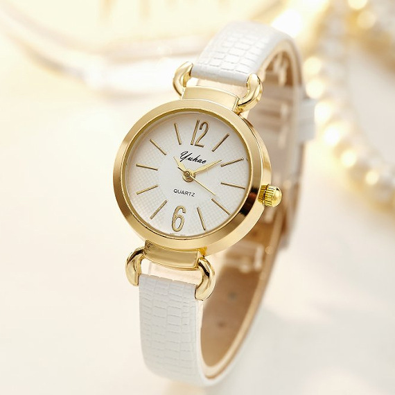 Top Brand Gold Watch Women Luxury Brand Leather Casual Quartz Bracelet Wrist Watches Woman Fashion Clock Laides Watch Gifts in Women 39 s Watches from Watches