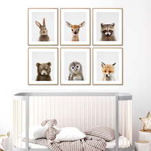 Nordic холст книги по искусству принт лесной милые принты в виде зверей иллюстрации Детские Картины Плакат Картина Малыш Спальня домашний декор