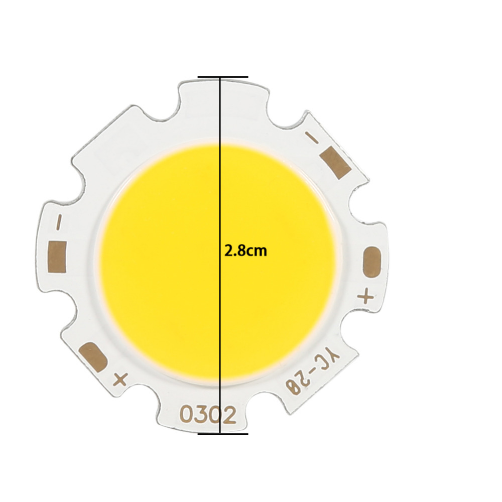 10Pcs/lot Round COB 3W New Brand LED Light Bulb Lamp Light Warm White 3000k/Natural White 4000k/Light White 6500k