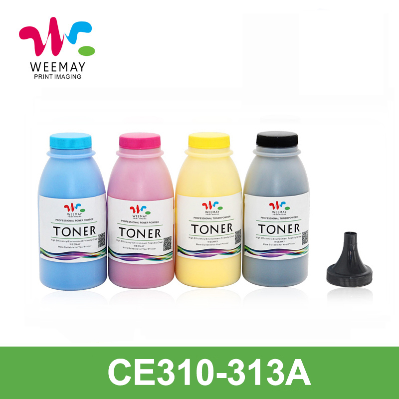 цены 100g/bag CE310A 311A 312A 313A Color toner powder refilled compatible for HP LaserJet CP1025/1025nw/M175a/M275/M175nw