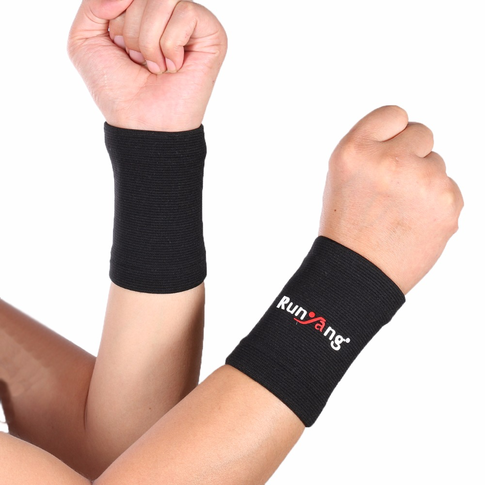 2Pc Wrist Sleeve Professional elastic sports safety Wrist Support Brace Brand Wristband Mumian Men Gym Wrestle Professional Spor