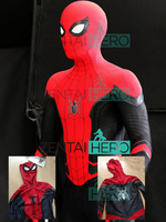 Free Shipping Newest 2019 Peter Parker Spider Man Far From Home Cosplay Costume 3D Printed Lycra Spiderman Bodysuit Spidey Suit