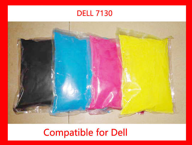 High quality compatible dell 7130 printer color powder refill color toner powder free shipping factory supply free shipping compatible xerox c2100 2200 3210 3290 3300 6180 62color toner powder toner printer refill powder 4kg high quality