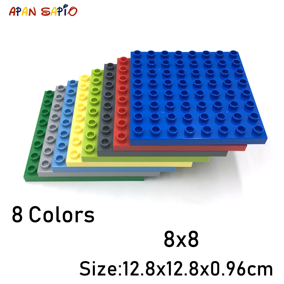 Big Size DIY Building Blocks 8X8 1PCS 8Colors Educational Building Blocks Brick Toys For Children Compatible With Brands