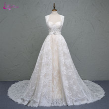 Waulizane Sheath 1 Detachable Train Wedding Dresses