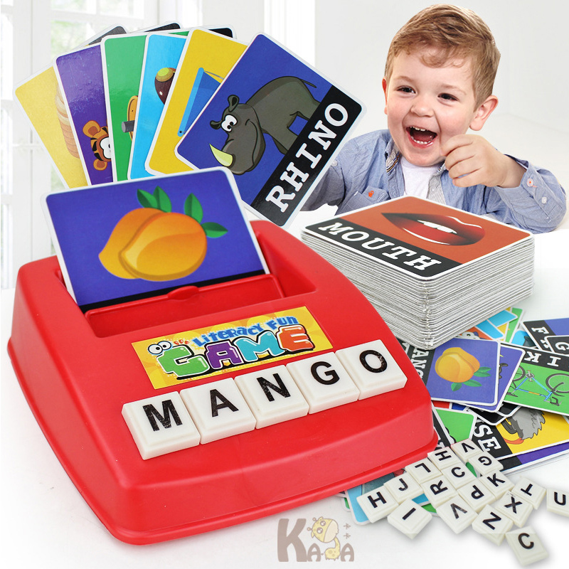 Children English Spelling Alphabet Letter Game Early Learning Educational Toy Kids English Card Machine Game