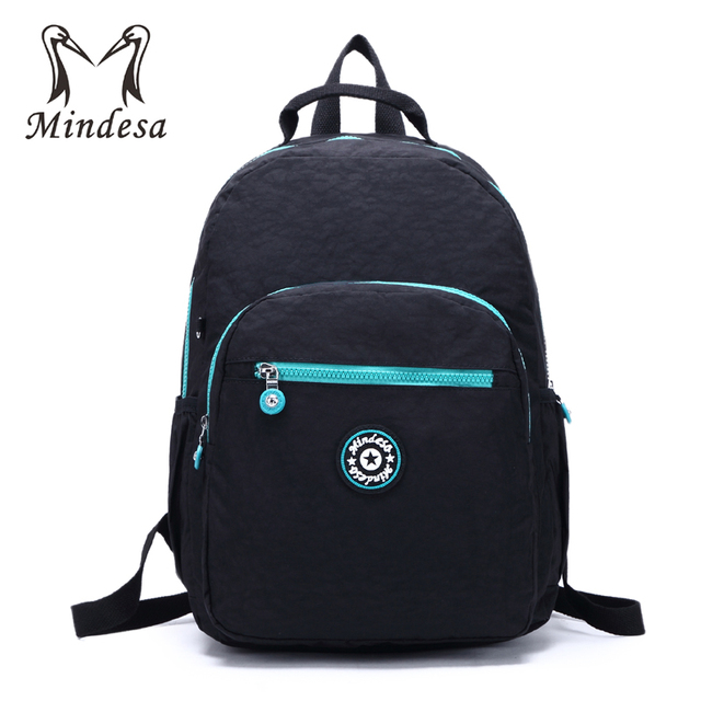 MINDESA Backpack For Teenage Girls Mochila Feminine Backpacks Women Casual  Laptop Bagpack Female Hit Color Nylon Sac A Dos New 019bc970cabd9