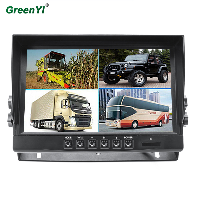 Greenyi Dvr-Video-Recorde-Monitor Parking-Camera-System Truck Vehicle 1920--1080p DC