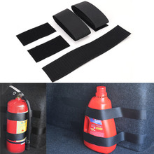 4Pcs Car fire extinguisher Bind Belt Stickers Storage Organizer Fire Equipment Durable speedwow car styling 4pcs set car trunk receive store content bag storage network fixed fire extinguisher magic strip fixed belt