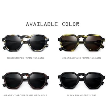 Gafas Redondas Transparentes   Gafas De Sol Polarizadas De Acetato HEPIDEM Para Mujer 2019 Nuevas Gafas De Sol Redondas Retro Vintage Para Mujer Diseño De Marca De Gran Tamaño