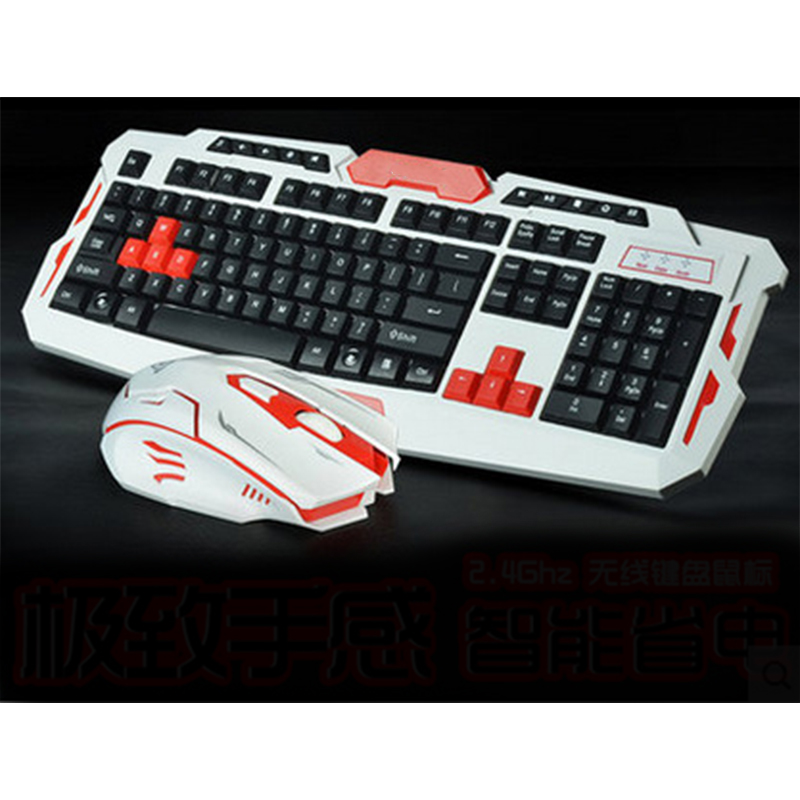 PARASOLANT Smart Wireless Mouse And Keyboard Set White Red Black Laptop Computer Gaming Keyboard Mouse Suit For PC Gamer keyboard and mouse set 9160 wireless mouse and keyboard set gold keyboard mouse and keyboard set