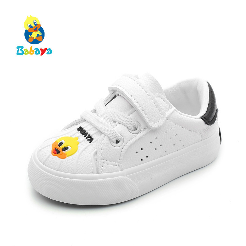 2018 Autumn New Baby Shoes Girls Boys 1 3 Years Old Baby Cartoon Fashion Toddler Sneakers Shell Head Study Walking Shoes