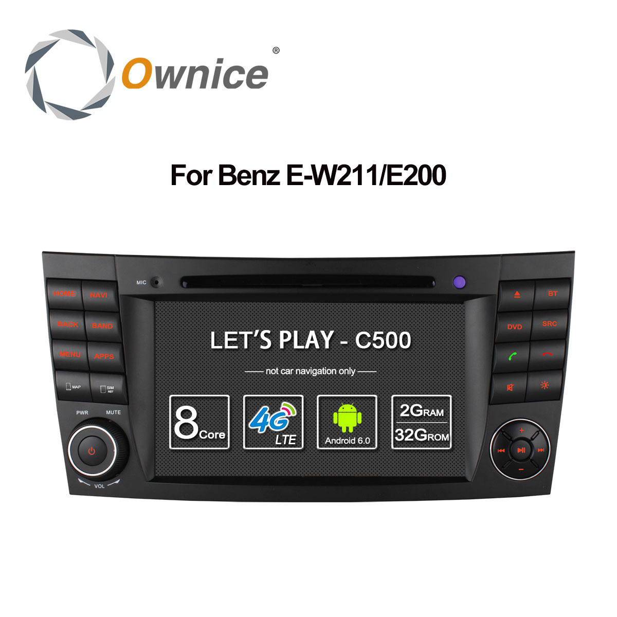 4G SIM LTE Android 6.0 Octa 8 Core 1024*600 Car DVD Player for Mercedes E Class W211 W209 W219 WIFI Radio GPS 2GB RAM 32GB ROM
