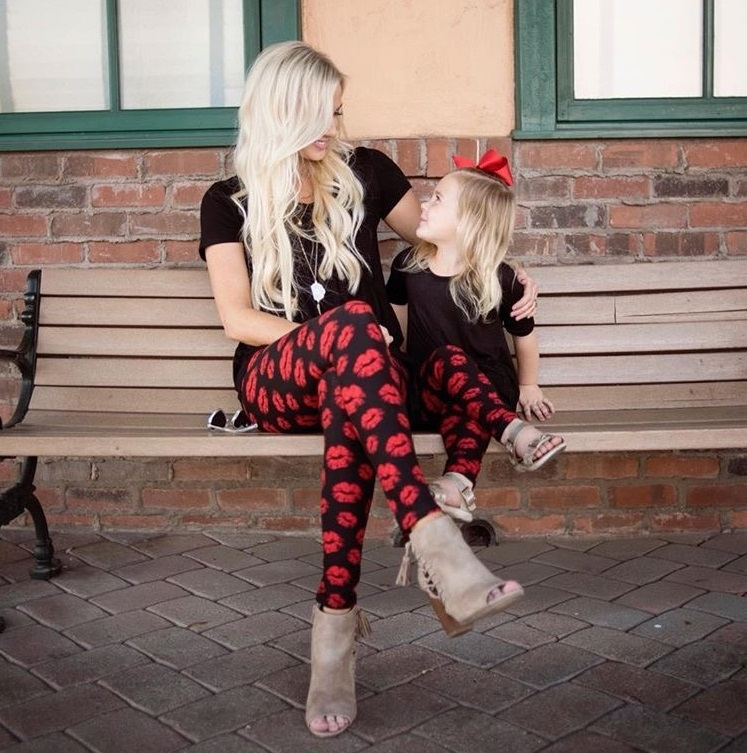 Mother Daughter Mommy And Me Clothes Casual Legging Pants Family Look Matching Outfits Mom And Daughter Trousers Dresses Clothes