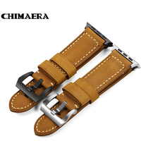 Assolutamente Italian Leather Watch Strap Handmade Padded Bracelet With Spring Bar Adaptor For Iwatch Apple