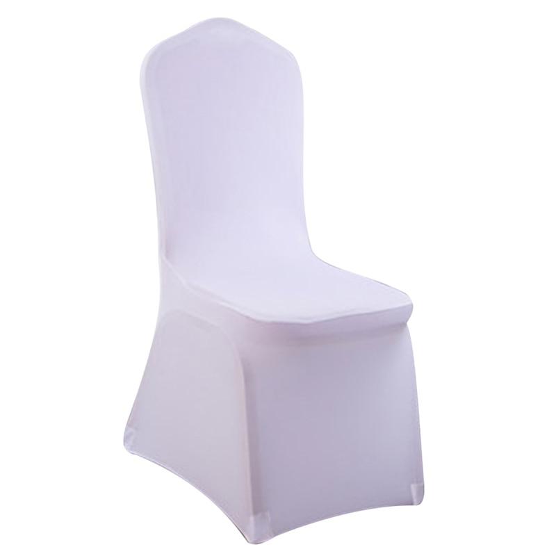 Свадебные чехлы на стулья Белый стрейч Универсальный полиэстер спандекс крышка стула для свадеб Банкетный Ресторан сиденье стул гостиницы