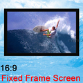 120'' 16:9 Wide Fixed Frame Projection Luxury Top Rank Home Theater Matte White PVC surface 120inch Projector Screen