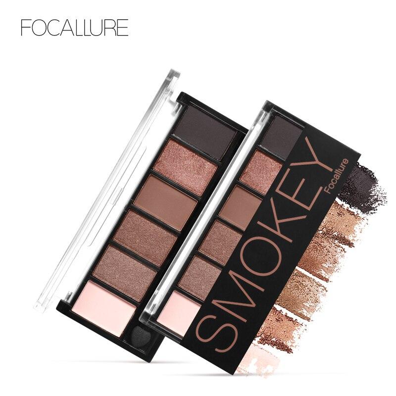 FOCALLURE 6 Couleurs Fard À Paupières Palette Glamour Smokey Eye Shadow Shimmer Couleurs Maquillage Kit par Focallure