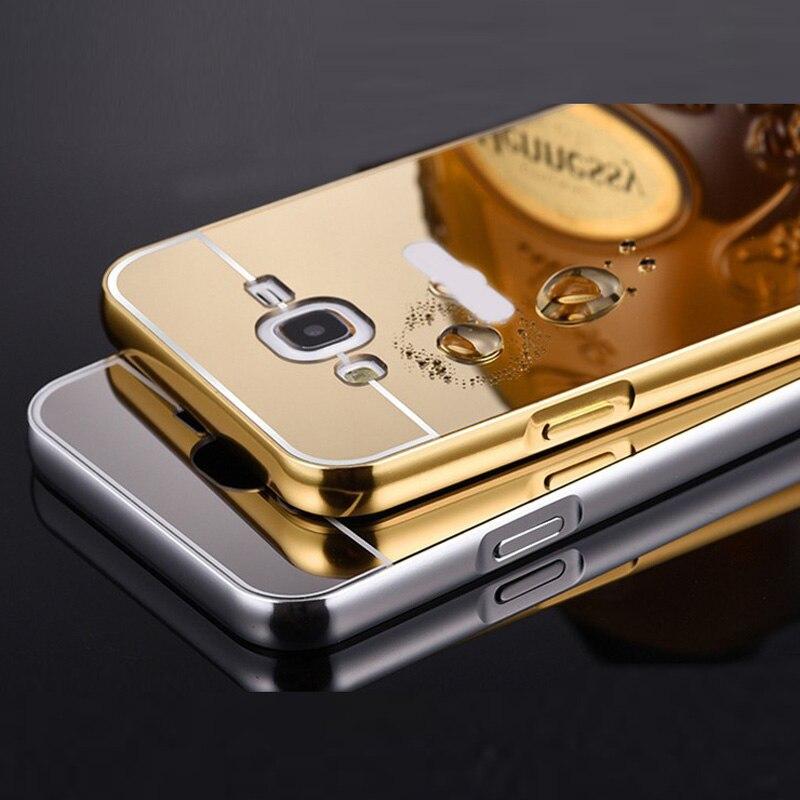 ⑧Für Samsung J5 2015 Fall Aluminium Metallrahmen Acryl Spiegel ...