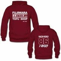 Laukexin Mens Hoodies Takumi Fujiwara Tofu Shop Delivery AE86 Initial D Manga Zipper Hoodie Sweatshirt Many