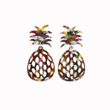 Pineapple Stud Earrings Acrylic Colorful Hollow Women Fashion Jewelry For Party