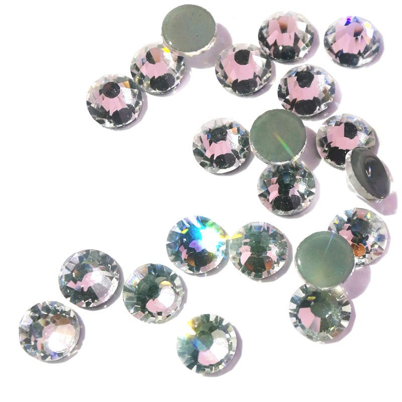f5be6c6cd0 US $0.84 14% OFF|Sample 2058HF SS16 SS20 SS30 Glass AB Hot Fix Rhinestones  Crystals Flatback Strass Iron Rhinestone For Clothes Motif Clothing-in ...