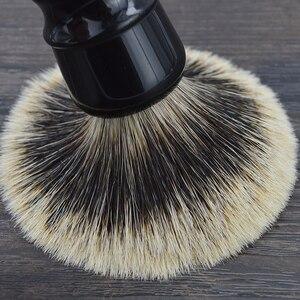Image 4 - DSCOSMETIC Men 2 band Badger Hair and Black resin handle Shaving Brush