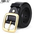 2016 New genuine Leather Good Quality business mens belt luxury Designer brand Buckle Male Belts For Men Jeans pants belts Susnn