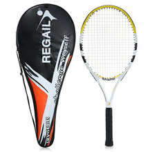 REGAIL Carbon Tennis Racket Indoor Outdoor Training Tennis Raquete with Cover Bag Tennis String raquetas de tenis High Quality(China)