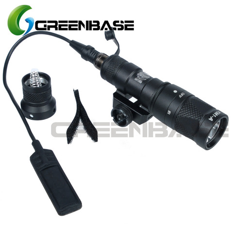 greenbase m300v ir sf tactical escoteiro luz weaponlight branco e led lanterna ir constante saida