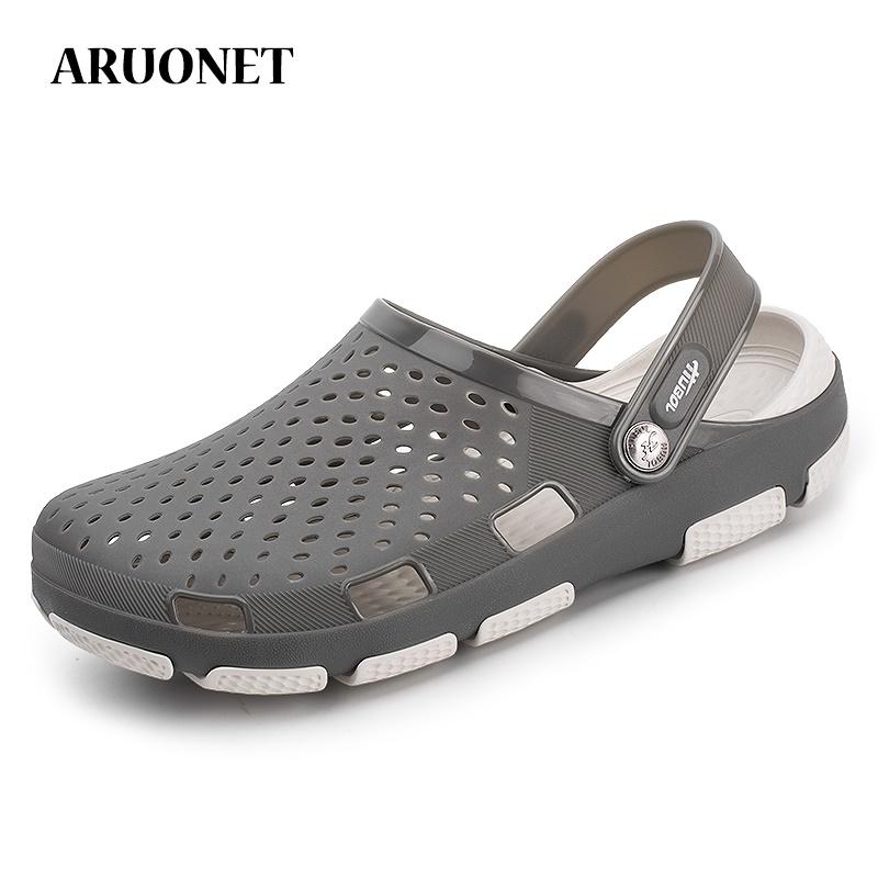 ARUONET Brand Summer Breathable Men Sandals Unisex Couple Clog Slipper Light Comfort Clogs Shoes Erkek Ayakkabi Drop Shipping