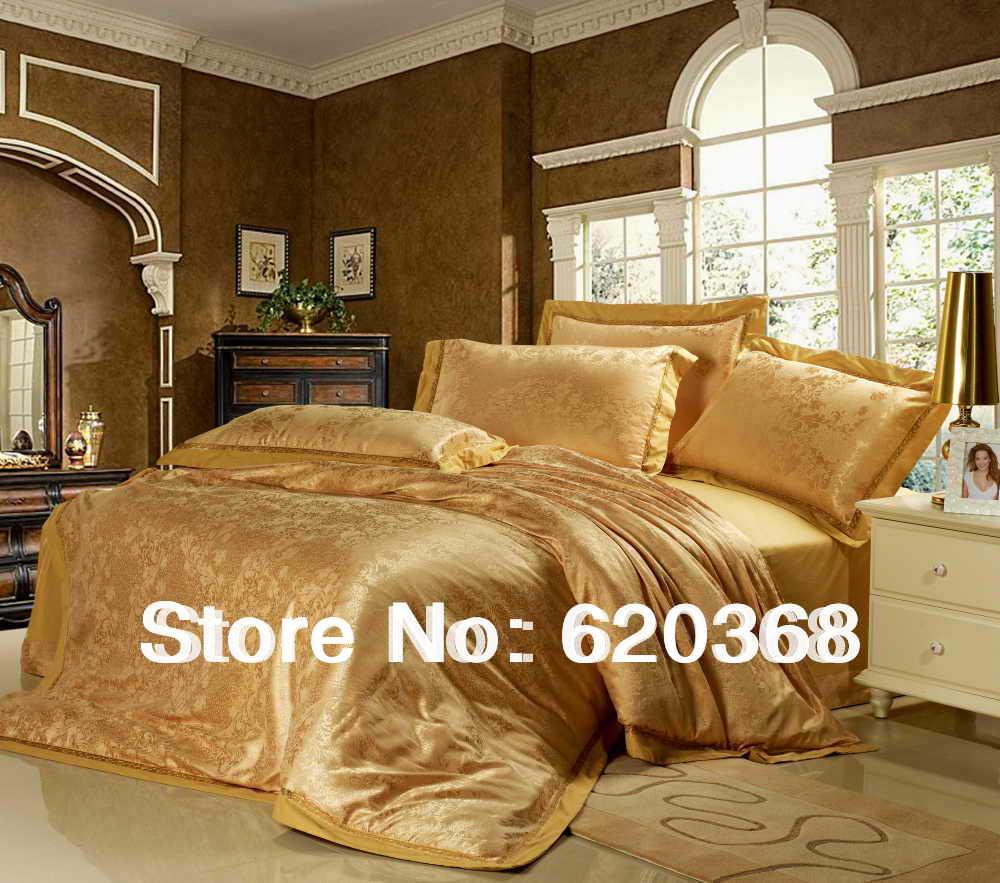 100 Cotton The Golden Age Clic Satin Jacquard Bedding