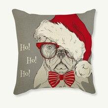 Dog Printed Polyester Cushion Creative Decorative Theme Pillowcase