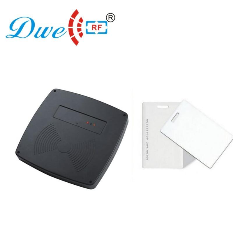 DWE CC RF Longue distance 125 khz 1 m milieu lecteur rfid de contrôle d'accès avec 2 pcs longue portée carte gratuite