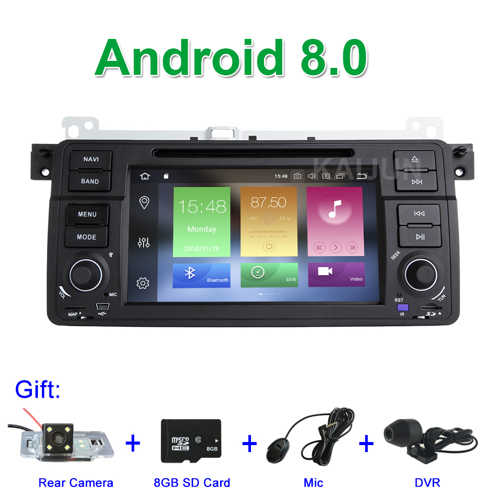 4G RAM 8 Core Android 8.0 Car DVD Multimedia Player for BMW E46 M3 with GPS Navigation Radio Wifi BT цена