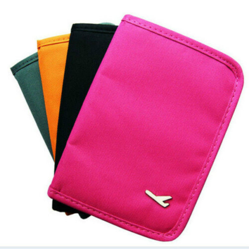 Leisure Travel Passport Wallet Portable Solid Color Oxford Cloth Mini Bag ID Card Holder Clutch