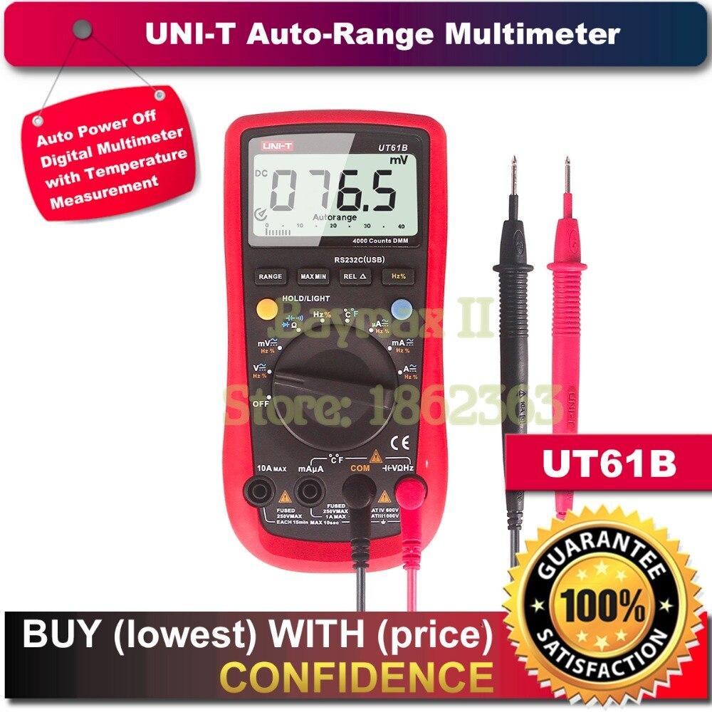 UNI-T UT18D Auto Range et Tension Testeur de continuité avec LCD rétroéclairage date