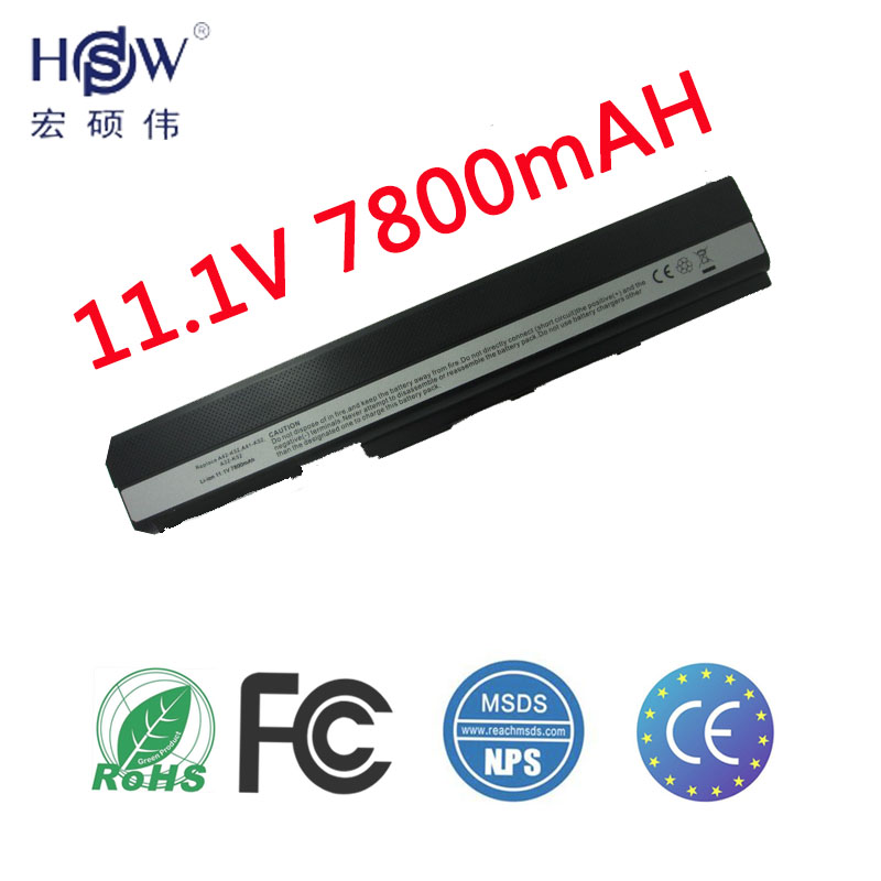 HSW 9CELL 7800MAH laptop battery for Asus A52 A52J K42 K42F K52F K52J Series,70-NXM1B2200Z A31-K52 A32-K52 A41-K52 A42-K52 kingsener japanese cell a32 k52 battery for asus a52 a52f a52j k52 k52d k52dr k52f k52j k52jc k52je k52n a41 k52 a31 k52 a42 k52