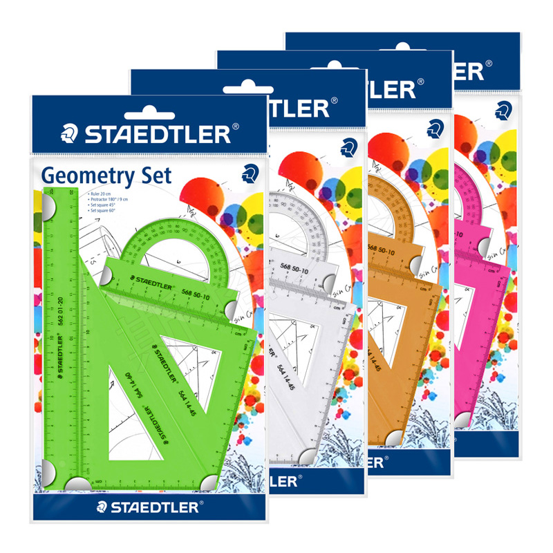STAEDTLER Color Student Four-piece Suit With Ruler Triangle Plate Protractor