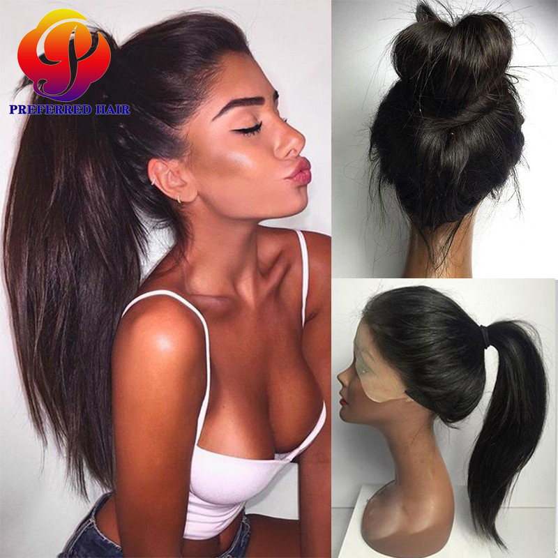 full lace human hair wigs with baby hair brazilian lace
