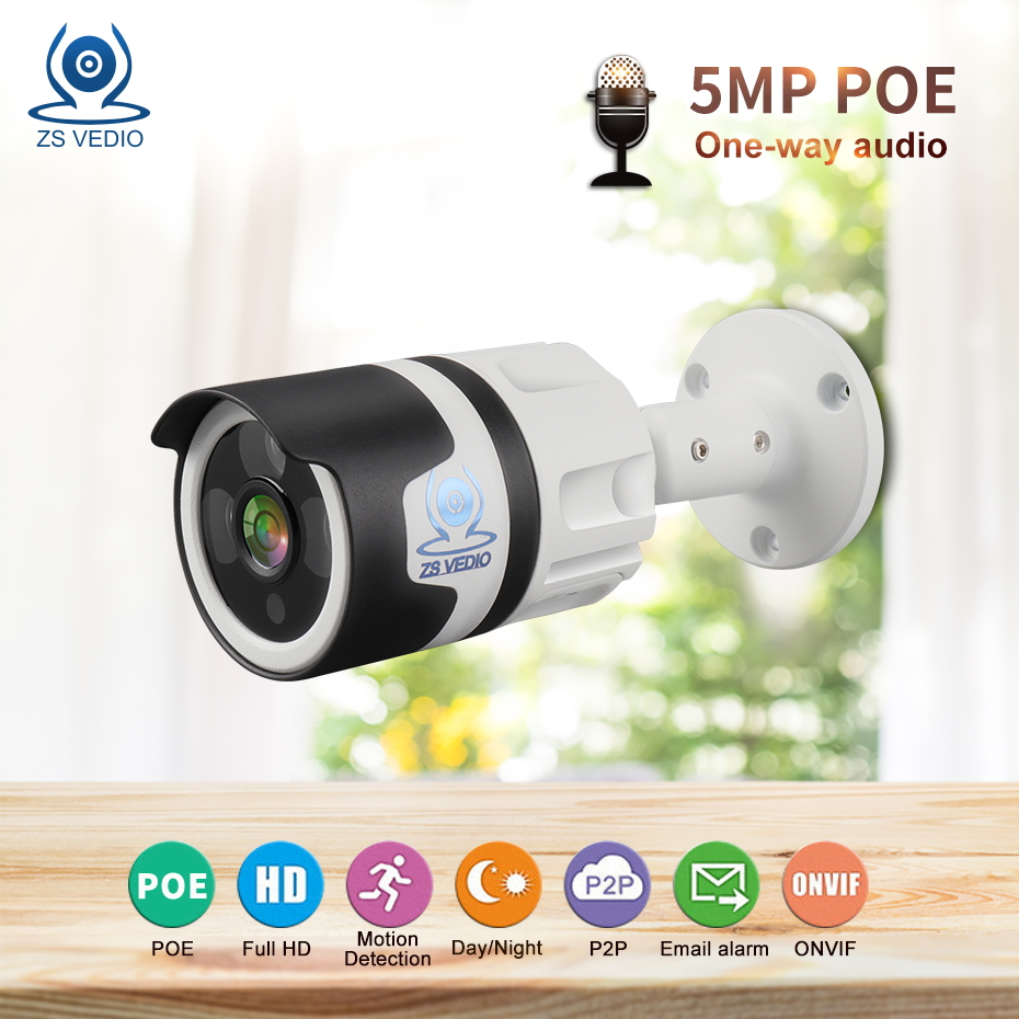 ZSVEDIO Surveillance cameras IP Camera Seetong Full HD 5MP POE Built-in Audio Network P2P onvif H.265 Security CCTV CAM UCZSVEDIO Surveillance cameras IP Camera Seetong Full HD 5MP POE Built-in Audio Network P2P onvif H.265 Security CCTV CAM UC