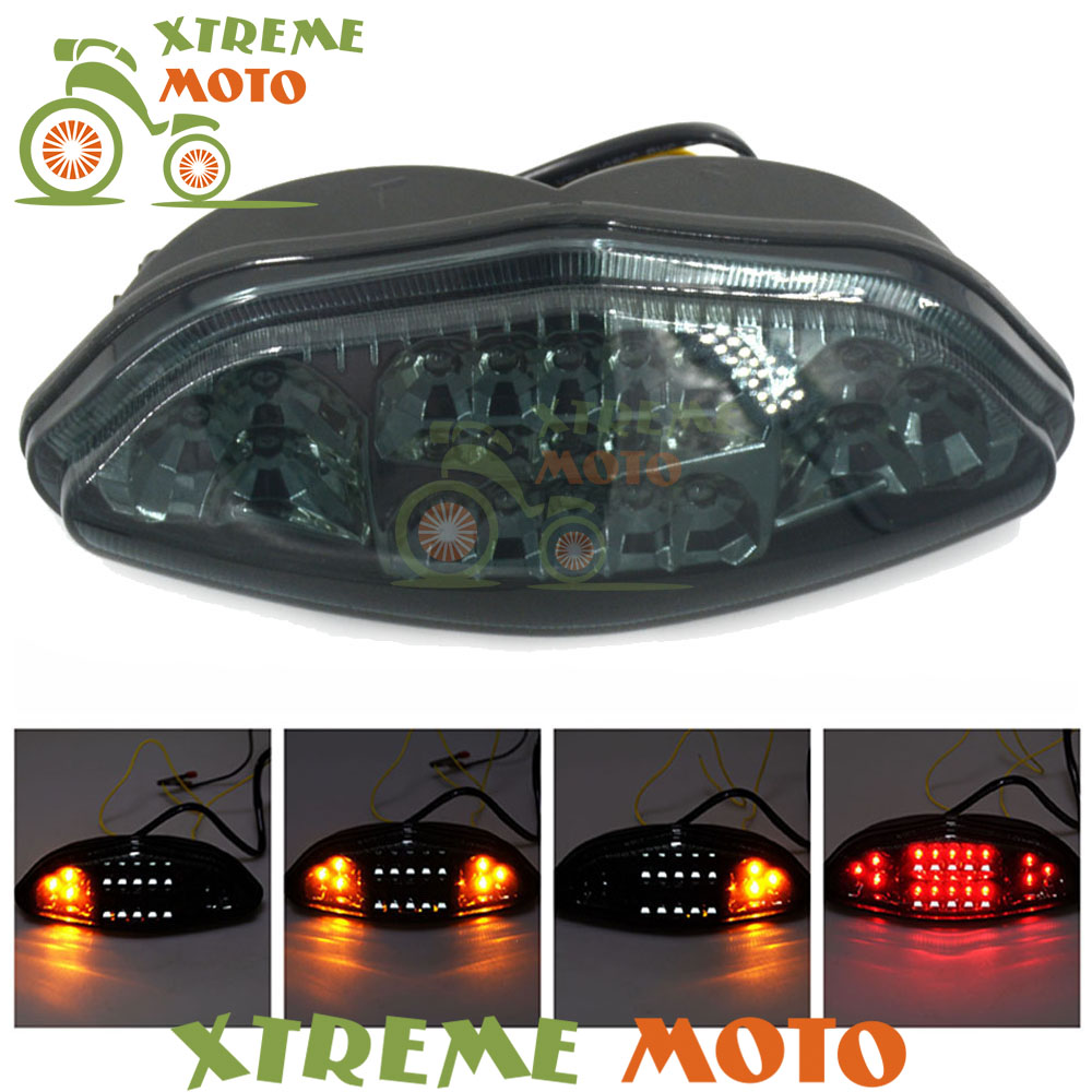 Motorcycle LED Rear Turn Signal Tail Stop Light Lamp Integrated For Suzuki DL650 DL 650 V-Strom 2003 2004 2005 2006 2007 2008 high quality motorcycle led rear turn signal tail stop light lamp integrated for kawasaki er6n 2012 2013 2014