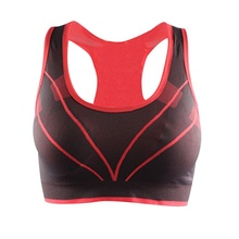 Summer Women Fitness Running Breathable Padded Tank Top Athletic Vest Stretch Seamless Gym Yoga Sports Bra