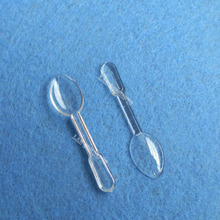 0.1 g Plastic Measuring Scoop Small Spoon for food medical ice cream - transparent 1000pcs/lot wholesale free shipping